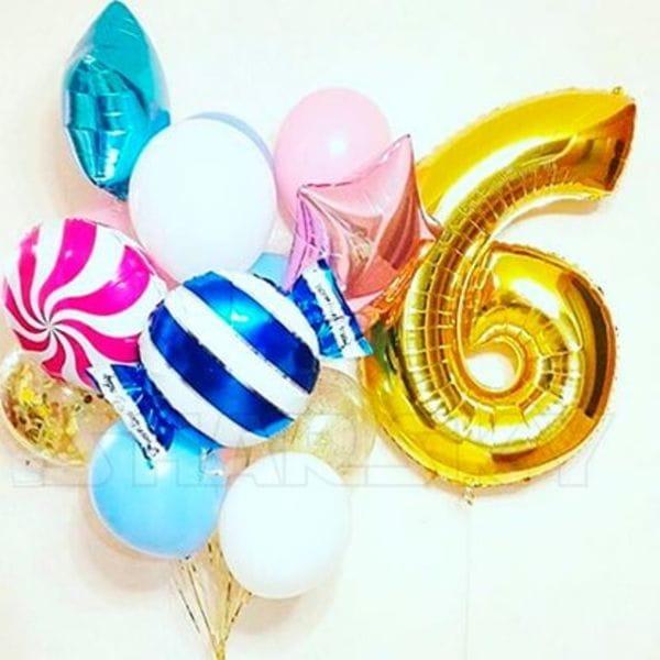 Воздушные шары. Доставка в Москве: Воздушные шары на 6 лет Цены на https://sharsky.msk.ru/