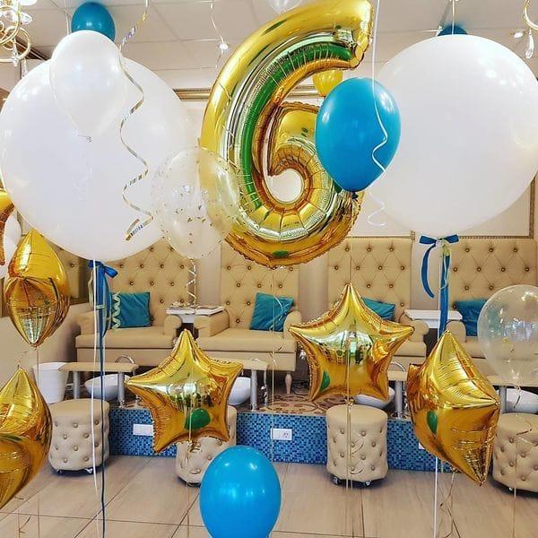Воздушные шары. Доставка в Москве: Шары на День Рождения мальчику 6 лет Цены на https://sharsky.msk.ru/