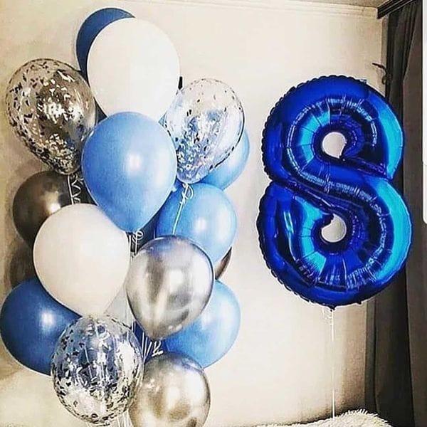 Воздушные шары. Доставка в Москве: Шарики на День Рождения мальчику 8 лет Цены на https://sharsky.msk.ru/