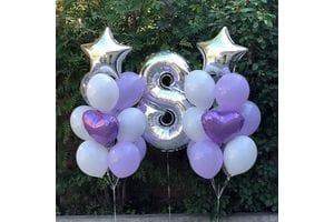 Шарики на День Рождения ребенку 8 лет