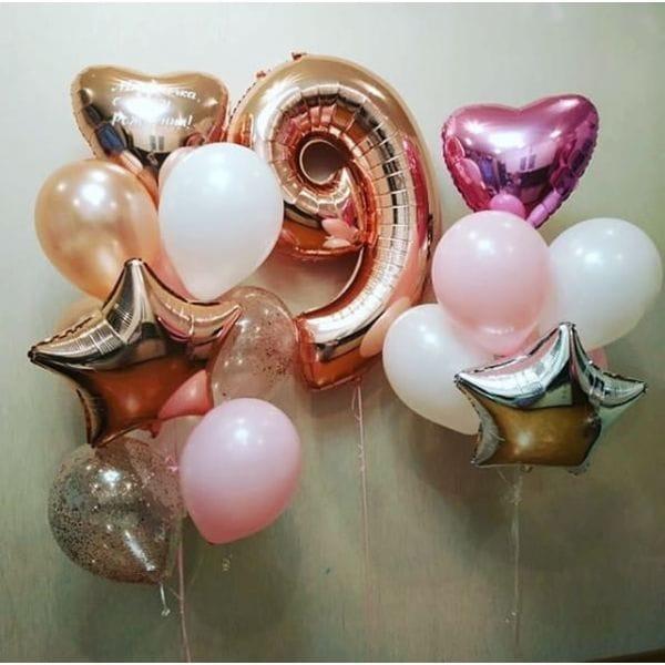 Воздушные шары. Доставка в Москве: Букет шаров на 9 лет девочке Цены на https://sharsky.msk.ru/
