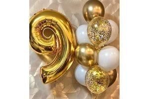 Композиция из шаров на 9 лет