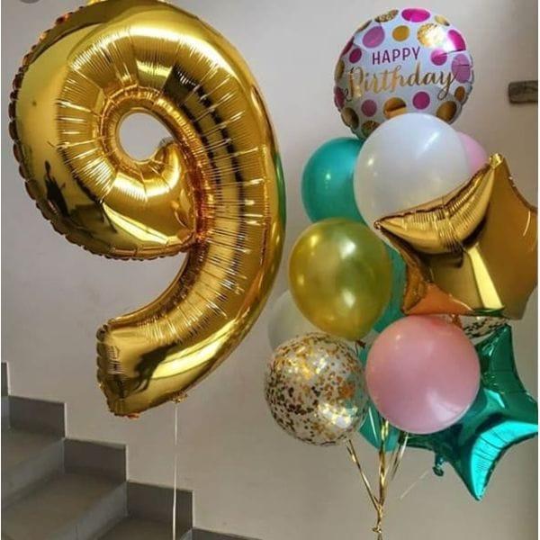 Воздушные шары. Доставка в Москве: Композиция из шаров на 9 лет мальчику Цены на https://sharsky.msk.ru/