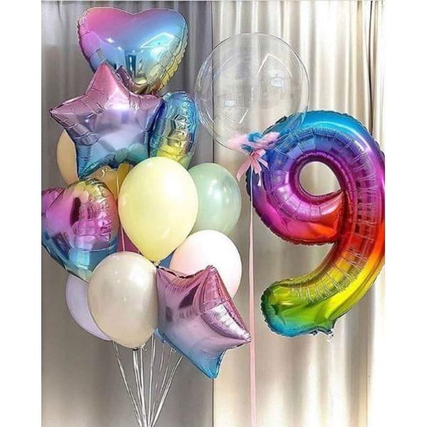 Воздушные шары. Доставка в Москве: Шарики на День Рождения 9 лет Цены на https://sharsky.msk.ru/