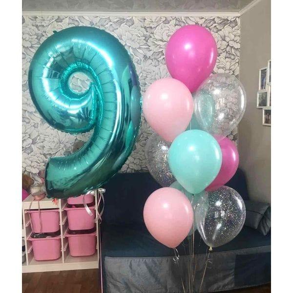 Воздушные шары. Доставка в Москве: Шары на День Рождения ребенку 9 лет Цены на https://sharsky.msk.ru/
