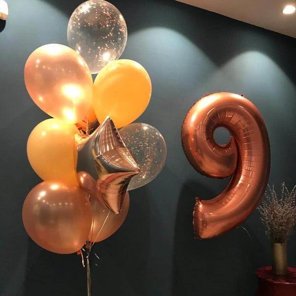Воздушные шары. Доставка в Москве: Шарики на День Рождения ребенку 9 лет Цены на https://sharsky.msk.ru/