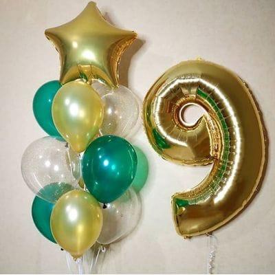 Шары на День Рождения 9 лет