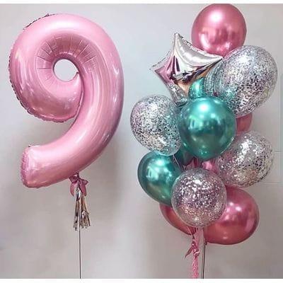 Шары на День Рождения девочке 9 лет