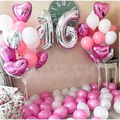 Воздушные шары на 16 лет девушке