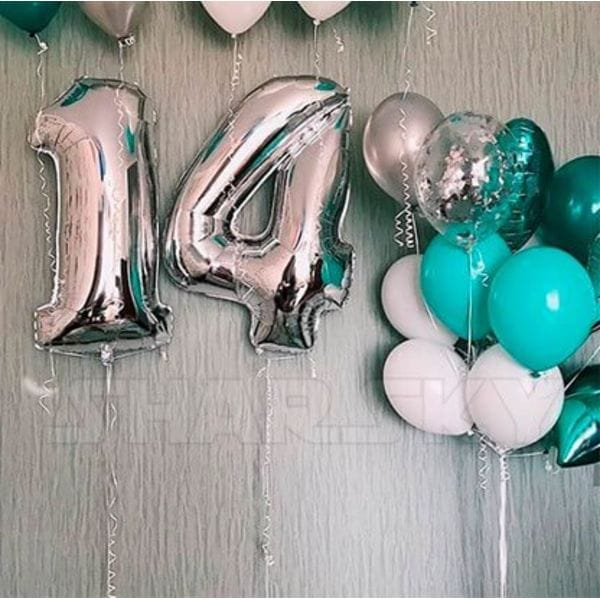 Воздушные шары. Доставка в Москве: Шары на 14 лет Цены на https://sharsky.msk.ru/