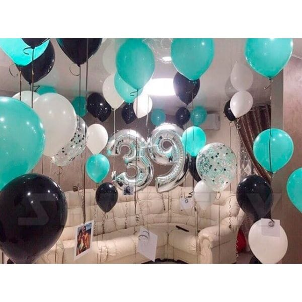 Воздушные шары. Доставка в Москве: Шары на День Рождения 39 лет Цены на https://sharsky.msk.ru/