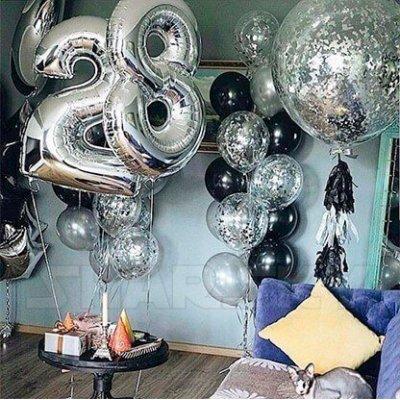 Шарики на День Рождения 28 лет