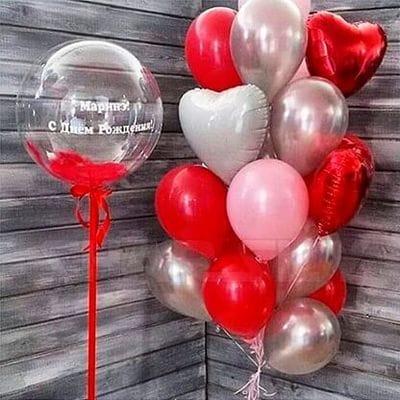 Фонтаны из воздушных шаров на День Рождения