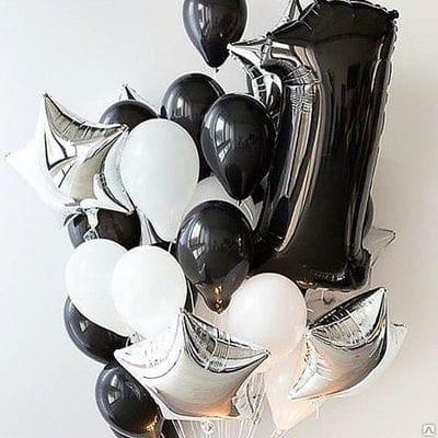 Гелевые шары на годик