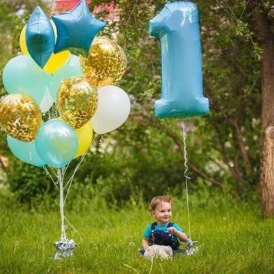 Шары на ДР мальчику 1 год