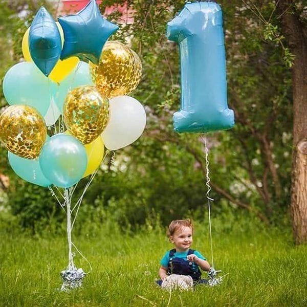 Воздушные шары. Доставка в Москве: Шары на ДР мальчику 1 год Цены на https://sharsky.msk.ru/
