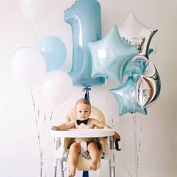 Воздушные шары. Доставка в Москве: Воздушные шары на годик мальчику Цены на https://sharsky.msk.ru/