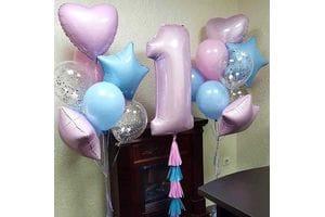 Оформление шарами 1 год девочке