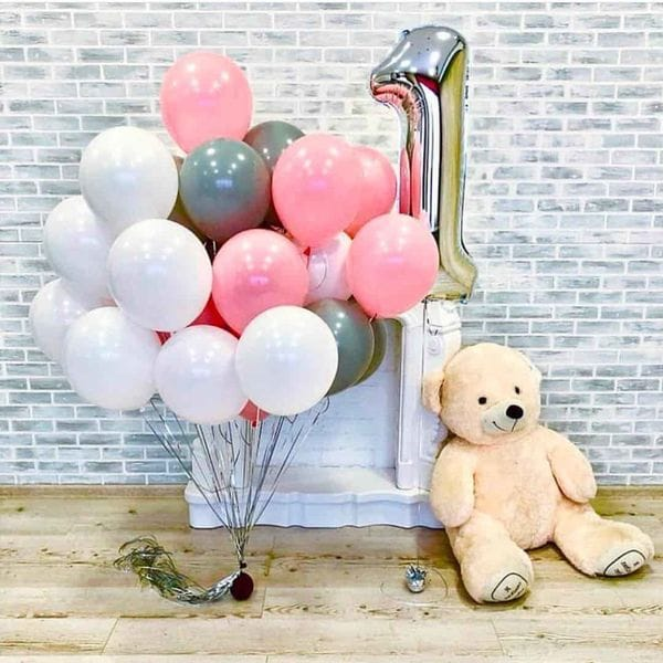 Воздушные шары. Доставка в Москве: Шары на год ребенку Цены на https://sharsky.msk.ru/