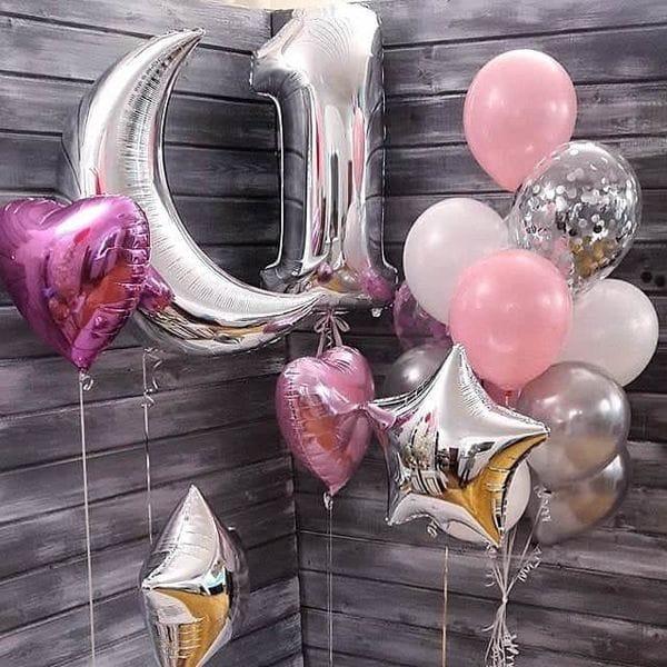 Воздушные шары. Доставка в Москве: Воздушные шары на годовасие Цены на https://sharsky.msk.ru/