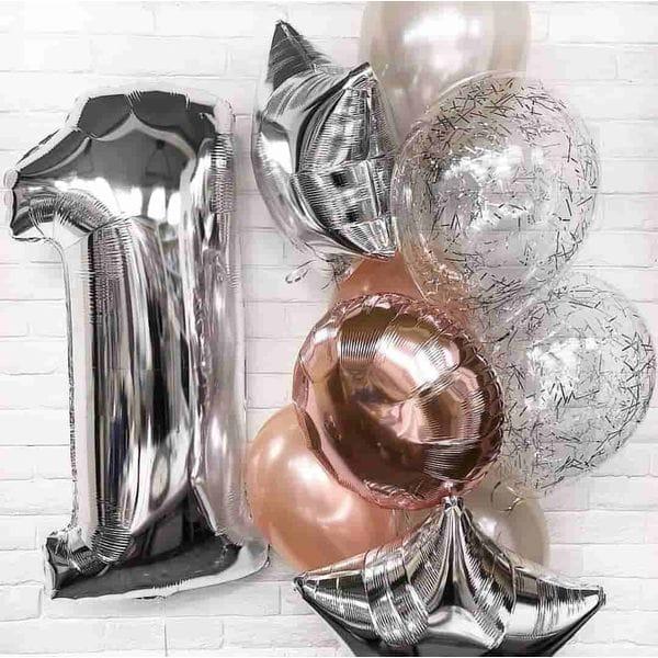 Воздушные шары. Доставка в Москве: Шары на День Рождения 1 год Цены на https://sharsky.msk.ru/