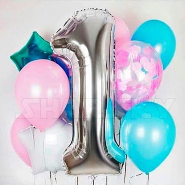 Воздушные шары. Доставка в Москве: Композиция из шаров на год Цены на https://sharsky.msk.ru/