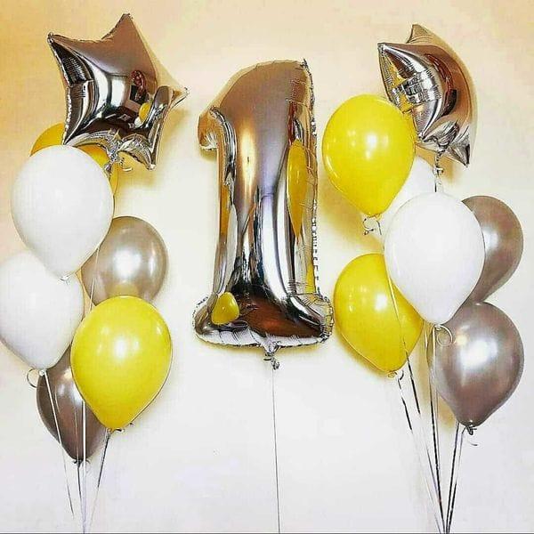 Воздушные шары. Доставка в Москве: Шарики на 1 годик Цены на https://sharsky.msk.ru/