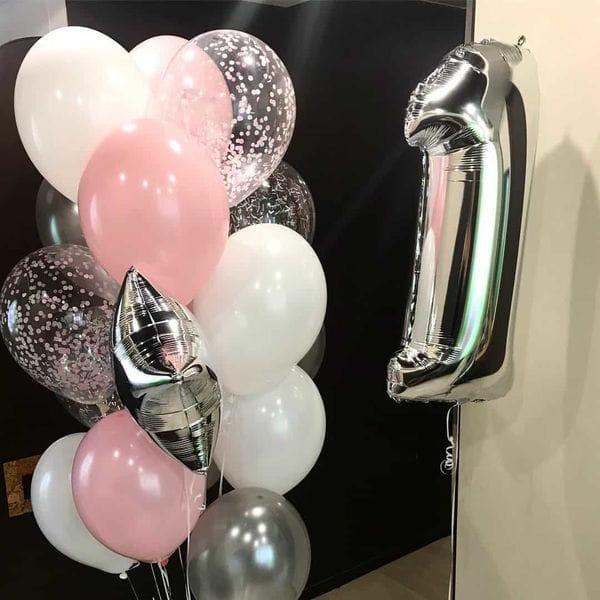 Воздушные шары. Доставка в Москве: Шары на 1 год девочке Цены на https://sharsky.msk.ru/