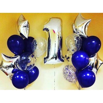Воздушные шары фонтаны на год