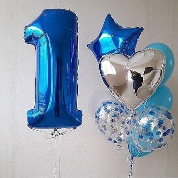Воздушные шары. Доставка в Москве: 1 День Рождения шары Цены на https://sharsky.msk.ru/