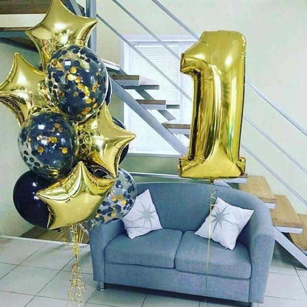 Воздушные шары. Доставка в Москве: Шарики воздушные 1 год Цены на https://sharsky.msk.ru/