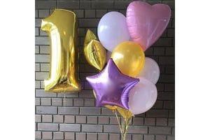 Композиция из шаров на 1 год девочке