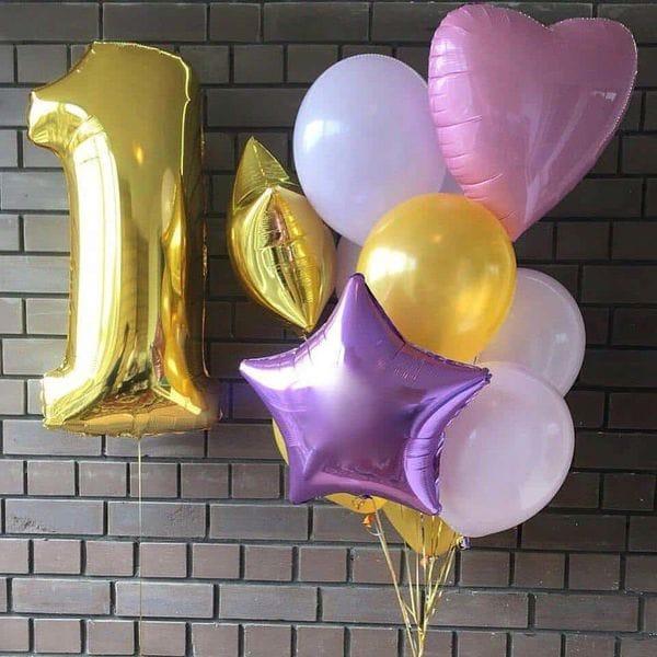 Воздушные шары. Доставка в Москве: Композиция из шаров на 1 год девочке Цены на https://sharsky.msk.ru/