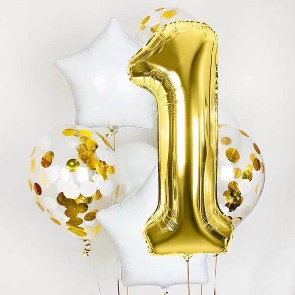 Воздушные шары. Доставка в Москве: Фонтан из шаров на год Цены на https://sharsky.msk.ru/
