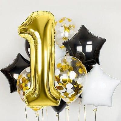 Гелевые шары на год