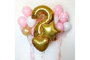 Шары на День Рождения девочке 2 года