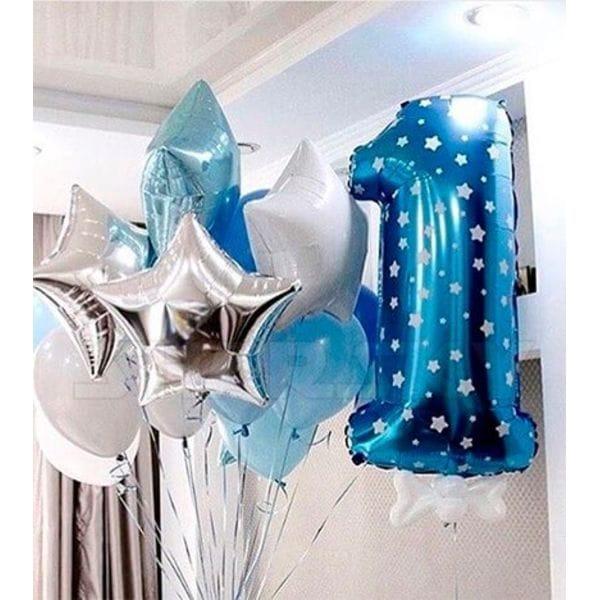 Воздушные шары. Доставка в Москве: Шарики на День Рождения годик мальчику Цены на https://sharsky.msk.ru/