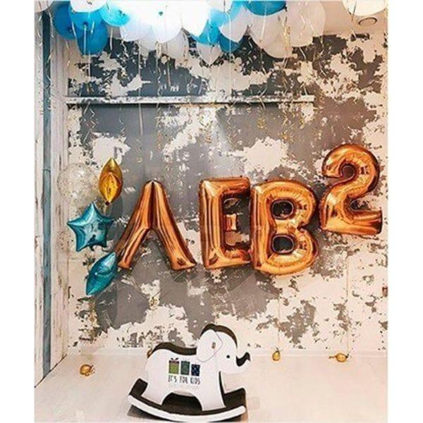 Воздушные шары. Доставка в Москве: Букет шаров на 2 годика Цены на https://sharsky.msk.ru/