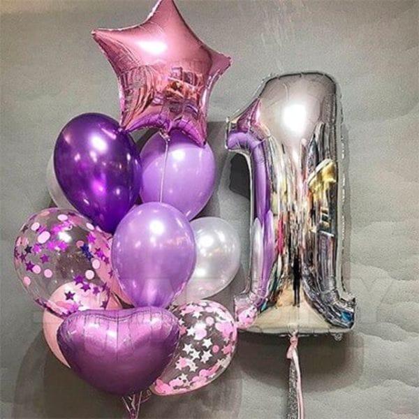 Воздушные шары. Доставка в Москве: Шарики на День Рождения годик девочке Цены на https://sharsky.msk.ru/