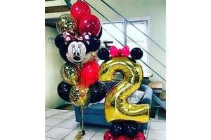 Букет шаров на 2 года с Минни Маус