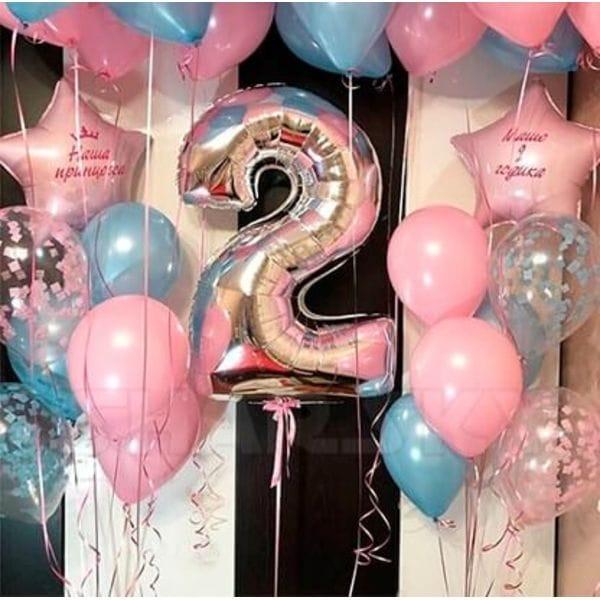 Воздушные шары. Доставка в Москве: Композиция из шаров на 2 года девочке Цены на https://sharsky.msk.ru/
