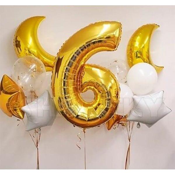 Воздушные шары. Доставка в Москве: Шарики на день рождения 6 лет Цены на https://sharsky.msk.ru/