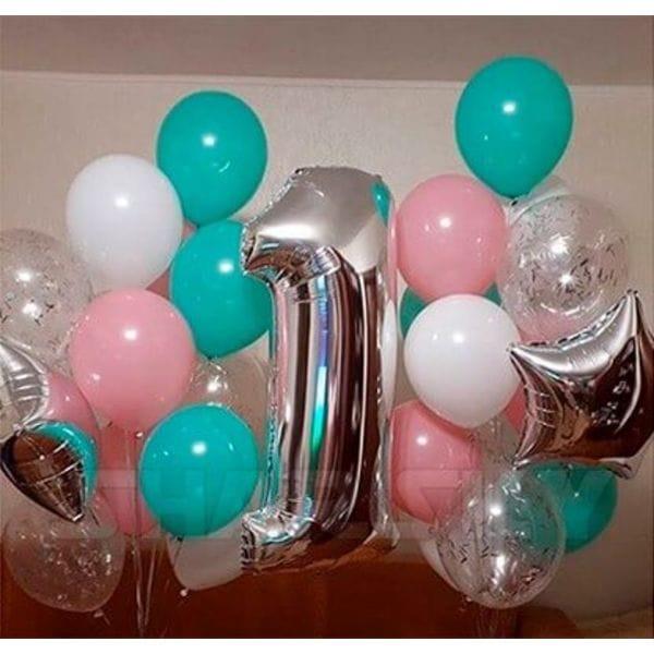 Воздушные шары. Доставка в Москве: Надувные шары на 1 год Цены на https://sharsky.msk.ru/