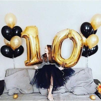 Букет шаров на 10 лет Изюминка