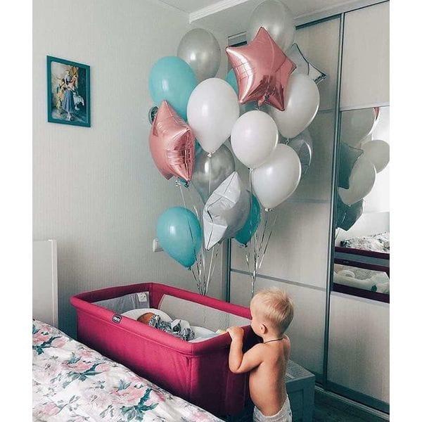 Воздушные шары. Доставка в Москве: Шары на выписку девочке Цены на https://sharsky.msk.ru/