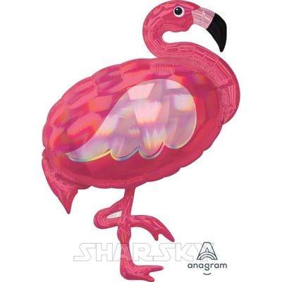 "Шар ""Фламинго"" перламутровый, 83 см"