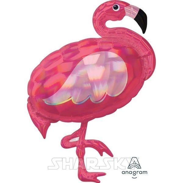 """Воздушные шары. Доставка в Москве: Шар """"Фламинго"""" перламутровый, 83 см Цены на https://sharsky.msk.ru/"""