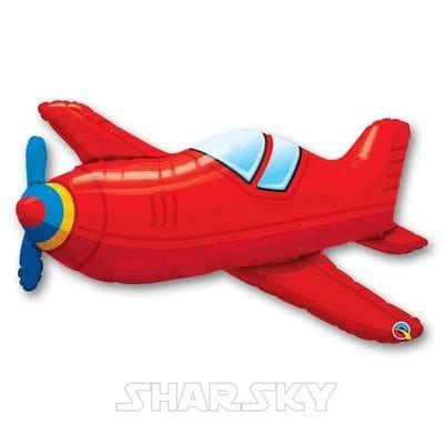 """Шар """"Красный самолет"""", 90 см"""