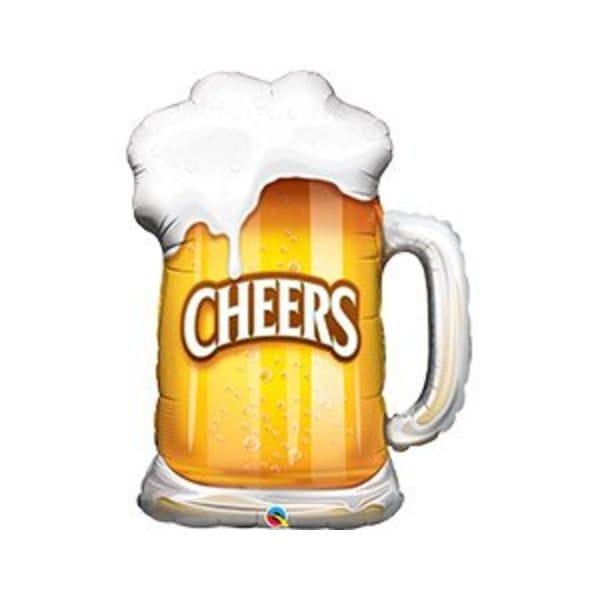 """Воздушные шары. Доставка в Москве: Шар """"Кружка Cheers"""", 87 см Цены на https://sharsky.msk.ru/"""