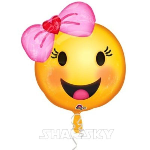 """Воздушные шары. Доставка в Москве: Шар """"Девочка с бантом"""", 45 см Цены на https://sharsky.msk.ru/"""